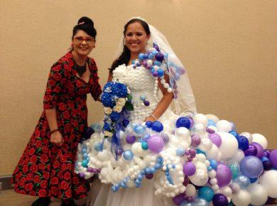 robe de mariée ballons