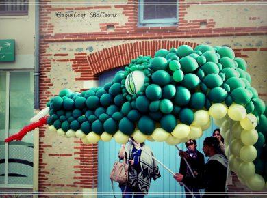 sculpture géante ballons