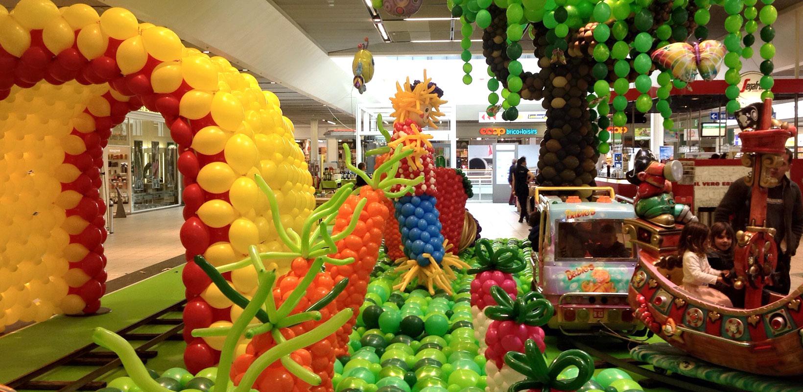 Décoration en ballons Centre commercial