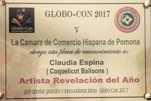 globo-con-2017 Artiste ballooneuse révélation de l'année